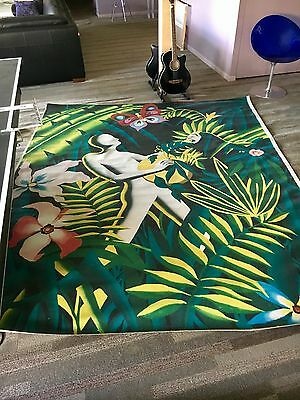 Awesome Huge Giclee? By Mark Kostabi On Canvas Signed Over 8 Ft By 7 Ft!