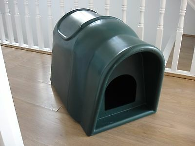 Plastic Outdoor Cat Pet Kennel Shelter Home with Canopy EXCELLENT