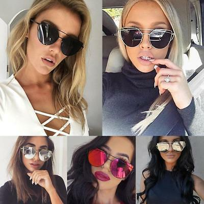 Women Men Fashion Retro Vintage Polarized Mirrored Sunglasses Cat Eye Eyewear AU