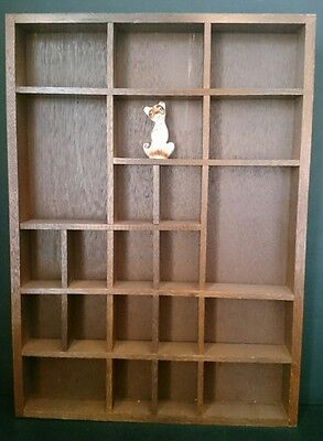 Vintage Wooden Wood Wall Hanging Miniature HOUSE Shelf Shadow Box Display GC