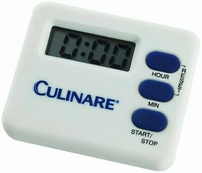 Culinare Digital Kitchen Timer Easy To Read Loud Beep White Magnetic Free Stand