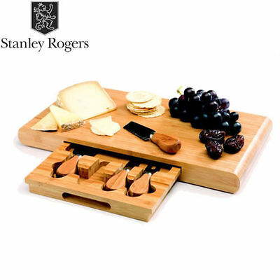 NEW Stanley Rogers Bamboo Cheese Board Set  5 piece Knives Tools Wooden
