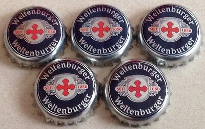 5x Kronkorken Weltenburger Klosterbrauerei Kelheim - Crown/Bottle caps
