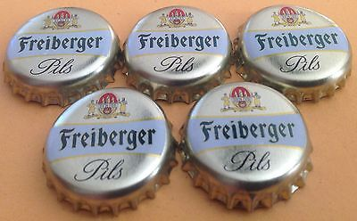 5x Kronkorken Brauhaus Freiberg - Freiberger Pils - Crown/Bottle caps - Bier