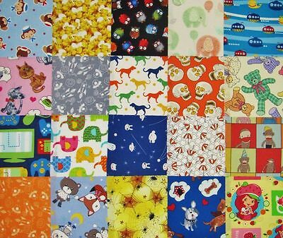 """5"""" Quilting cotton fabric charm squares..CHILDREN'S NOVELTY PRINTS x 20"""
