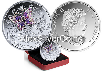 Canada 1 oz. Pure Silver Coloured Coin - Bejeweled Bugs: Butterfly 2017