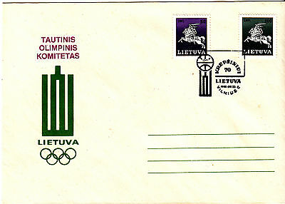 Lithuania 1992  Olympics  Cover VFU