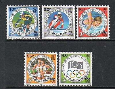 Isle Of Man Mnh 1994 Sg621-625 Centenary Of Int Olympic Committee