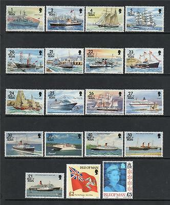 Isle Of Man Mnh 1993 Sg539-557 Ships Complete Set