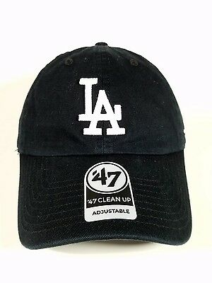 Los Angeles Dodgers Black 47 Brand Clean up hat soft Unstructured Unisex OneSize