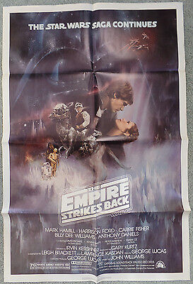 First Issue 1980 Empire Strikes Back Movie Theatre One Sheet Great Condition