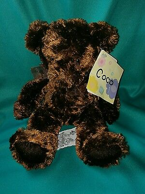 Russ Berrie Scented Soft Toy Teddy Bear Coco Bear Brown Bow Beanie Butt