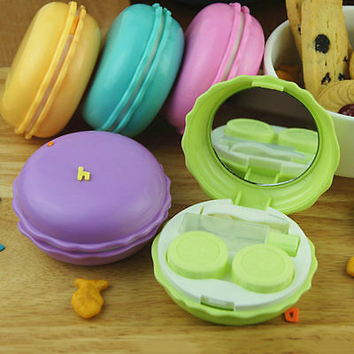Hot New Fashion Cute Macaron Contact Lens Case Portable Travel Lens Container