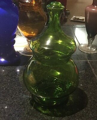 Green Glass Lolly Jar