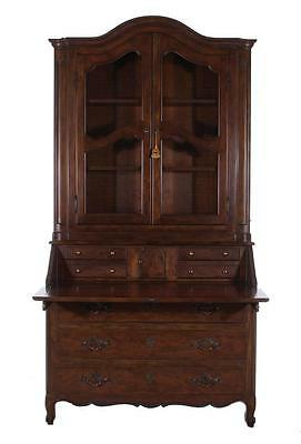 Baker French Provincial style beechwood secretary bookcase Lot 1471