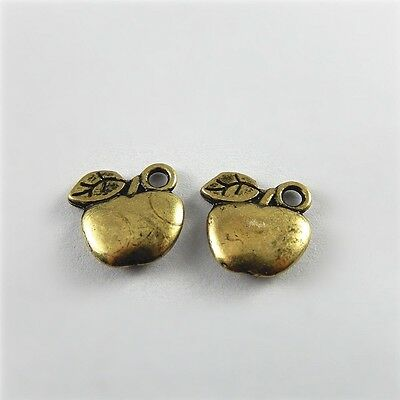 Jewelry Making Retro Bronze Apple Zinc Alloy Charms Pendant Findings 100pcs