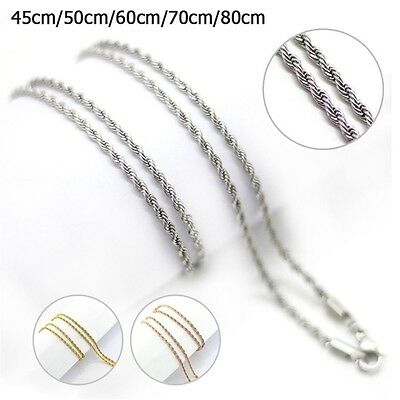 18-32 inch Hot 316L Stainless Steel Silver/Rose/Gold Men/ Women Necklace Chains