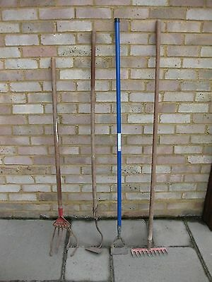 Garden Tools Draw Hoe Dutch Hoe Rake & Cultivator Allotment Veg Plot -  Vintage