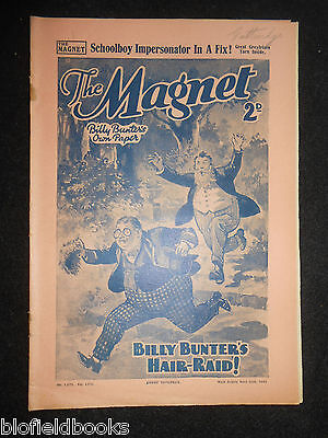 The Magnet; Billy Bunter's Own Paper - WWII Era Boy's Comic - April 20th 1940