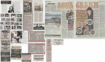 GINGER BAKER : CUTTINGS COLLECTION -adverts etc-