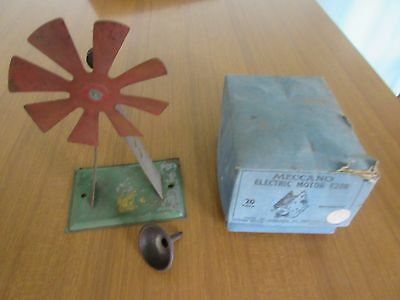 Meccano E20R reversing 20 volt motor boxed  with other items