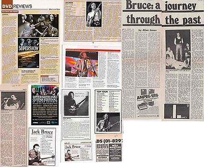 JACK BRUCE : CUTTINGS COLLECTION -interviews adverts-