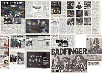 BADFINGER : CUTTINGS COLLECTION -adverts etc-