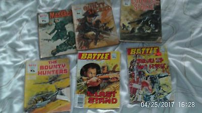 Battle Picture Library  Fleetway Library job lot 6 damaged