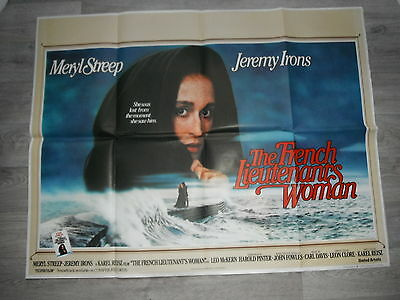 French Lieutenants' Woman Quad Cinema Poster 1981. Displayed at Images Cinema.