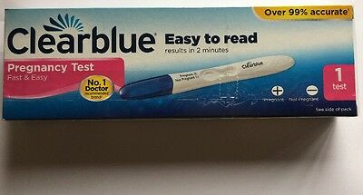 1 x Clearblue Pregnancy Test - Home Testing Stick New & Sealed