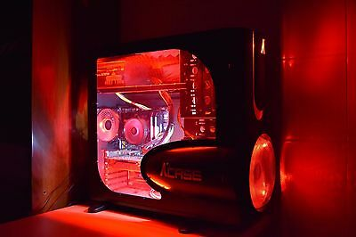 Case PC Gaming LED rosso mATX-ATX-EATX