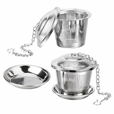 Tea Ball Infuser Strainer Ollimy 304 Stainless Steel Tea Filter Steeper for L...