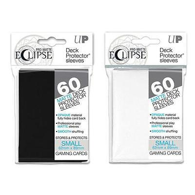Ultra Pro Eclipse Small Card Sleeves (60) - White - Black - YuGiOh Vanguard Size