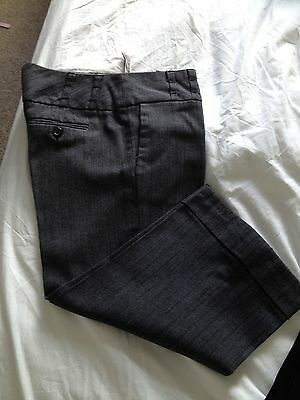 River Island Cropped Pin Stripe Trousers Size 10