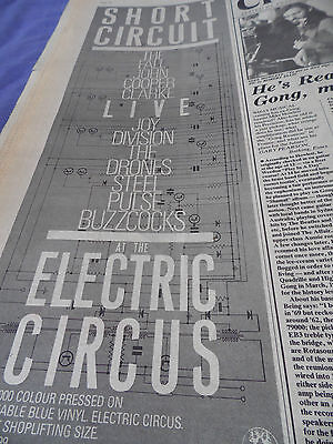 Joy Division Short Circuit Live 1978 Factory Compilation Advert Electric Circus