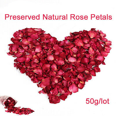 Hot 50g Bulk Dried Flowers Rose Buds Blooms Rose Petals Biodegradable Confetti