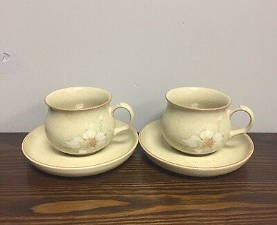 Denby Daybreak 2 X Cups And Saucers