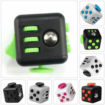 New Fun 6 Sided Fidget Cube Dice Anxiety Attention Stress Relief Adults Toy
