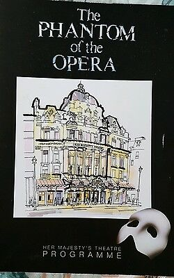 The Phantom of the Opera West End Programme