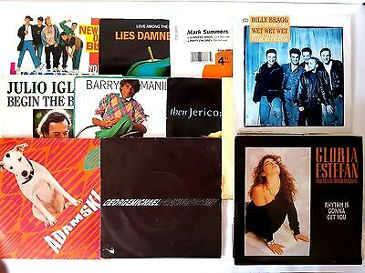 Job Lot (25) 80'S 7'' Picture Sleeve Vinyl Records