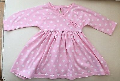 Marks And Spencer M&S Baby Girls Pink Dress 0-3 Months Polka Dot Spot