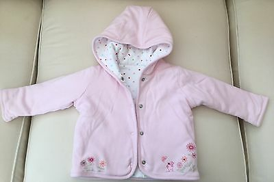 Marks And Spencer M&S Baby Girls Pink Jacket 3-6 Months Polka Dot Reversible