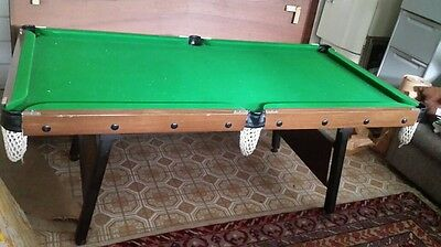 Pool table 6x3 with Snooker and cube balls