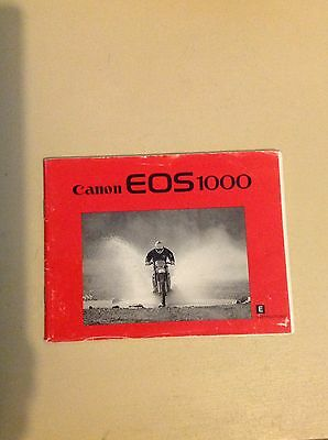 Canon EOS 1000 Instructions manual user guide