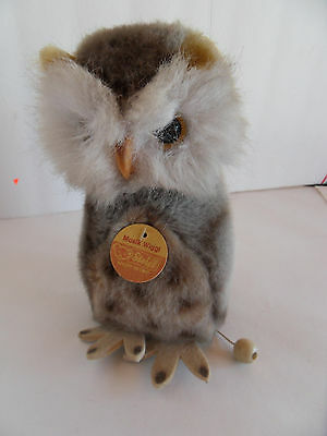 Steiff owl musical owl all IDs made in Germany 2138