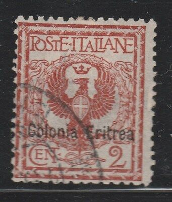 ERITREA 1903 SG20 2c Brown VFU  #