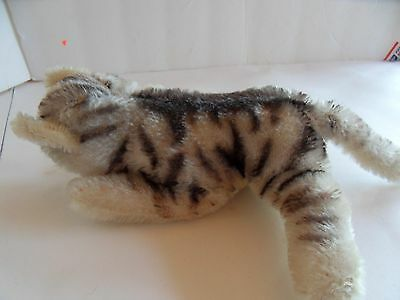 Steiff cat floppy cat mohair small sleeping button made in Germany 1583