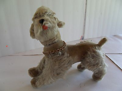 Steiff dog poodle mohair with button made in Germany 1562