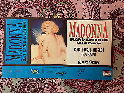 Madonna Blond Ambition Live 1990 Ticket 11 July Date Cancelled Rare!