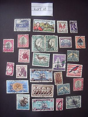 Selection Of 27 Used Stamps From South Africa